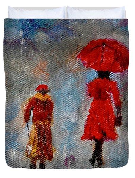 Rainy Spring Day Duvet Cover
