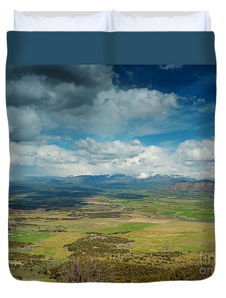 Rainy Storm Clouds Mesa Verde National Park Duvet Cover