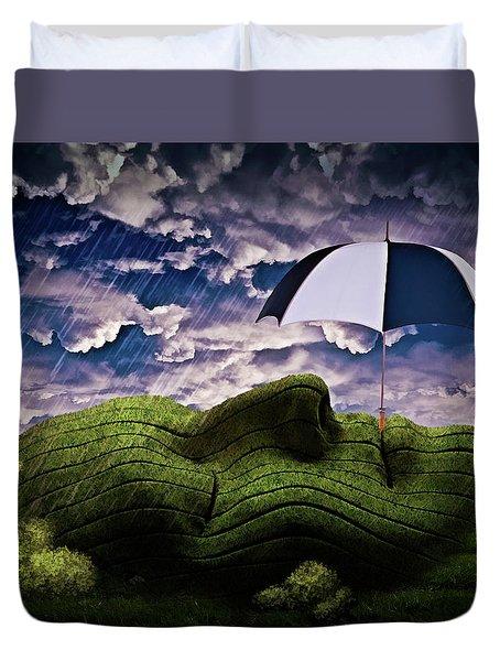 Rainy Summer Day Duvet Cover by Mihaela Pater