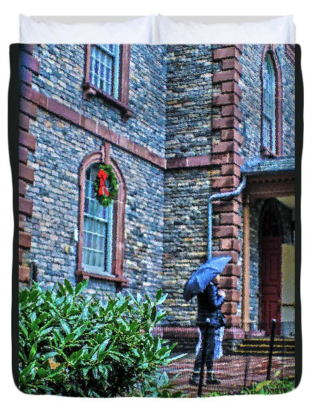 Duvet Cover featuring the photograph Rainy Sunday by Sandy Moulder