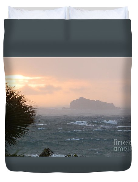 Rainy Xmas Sunrise Duvet Cover