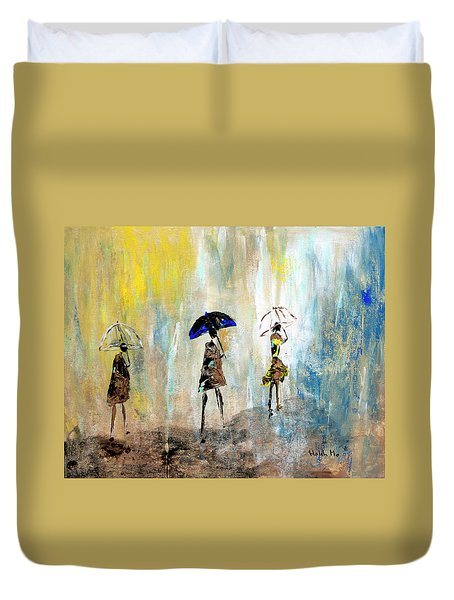 Rainydaywalk Duvet Cover