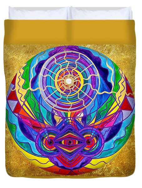 Raise Your Vibration Duvet Cover