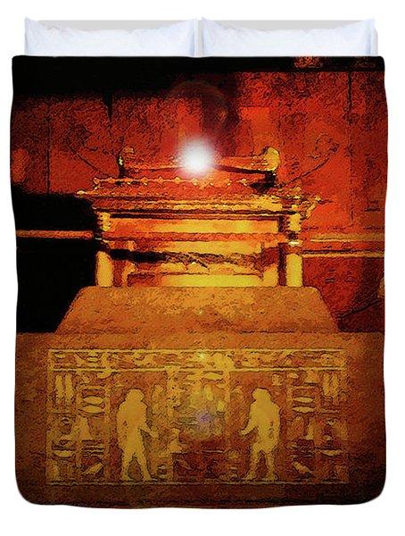 Raising The Ark Duvet Cover by David Lee Thompson