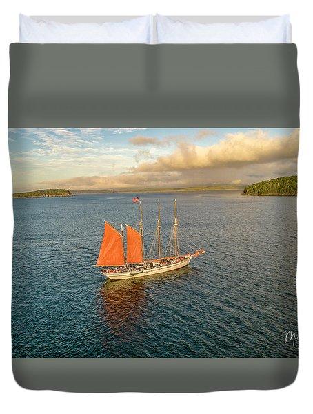 Raising The Sail Duvet Cover