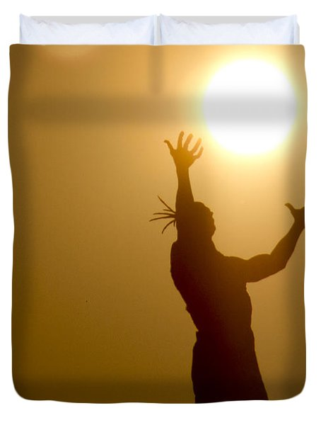Raising The Sun Duvet Cover