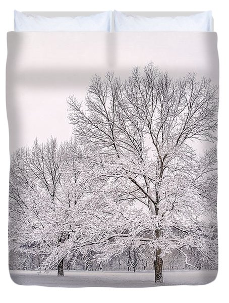 Raising With The Winterfrost Duvet Cover