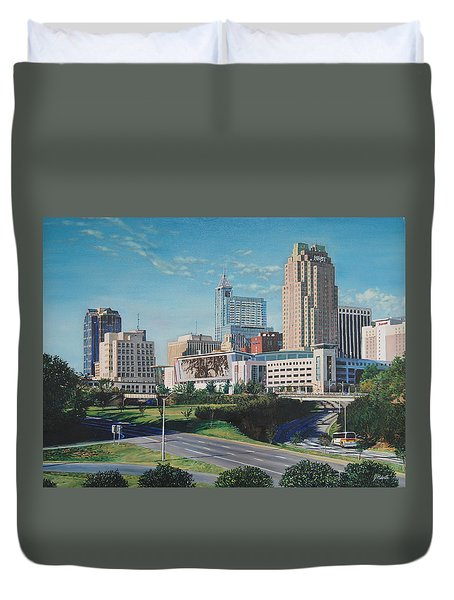 Raleigh Downtown Realistic Duvet Cover