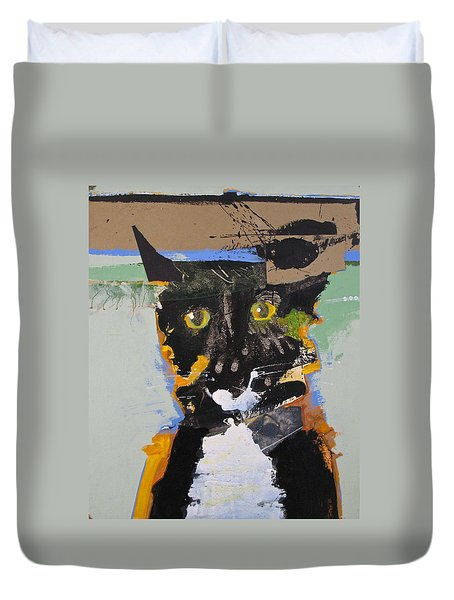 Duvet Cover featuring the painting Ralph Abstracted by Cliff Spohn
