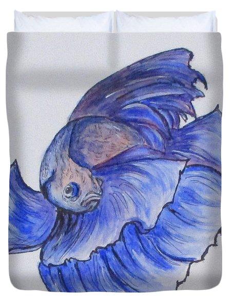 Ralphi, Betta Fish Duvet Cover by Clyde J Kell