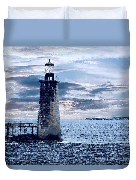 Ram Island Head Lighthouse.jpg Duvet Cover