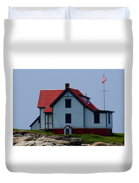 Duvet Cover featuring the photograph Ram Island  by Lois Lepisto