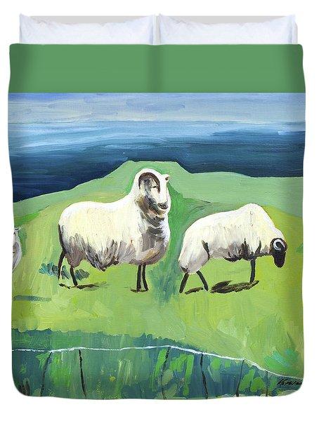Ram On A Hill Duvet Cover