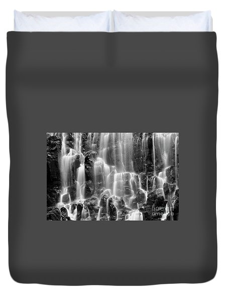 Ramona Falls Close-up Duvet Cover