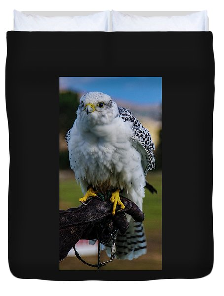 Duvet Cover featuring the photograph Ramona Hawk 1 by Phyllis Spoor