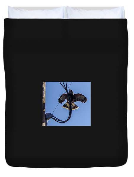 Duvet Cover featuring the photograph Ramona Hawk 5 by Phyllis Spoor