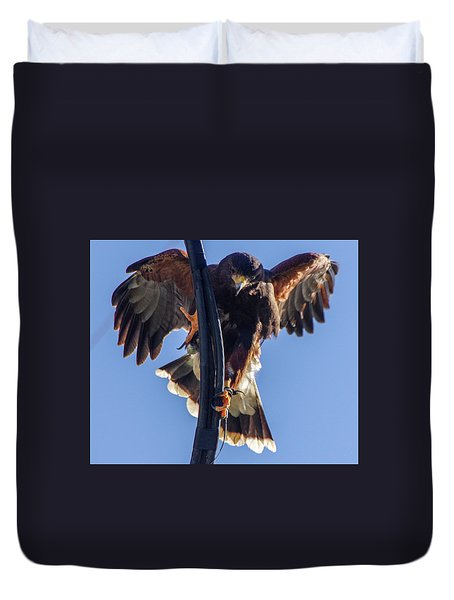 Duvet Cover featuring the photograph Ramona Hawk 7 by Phyllis Spoor
