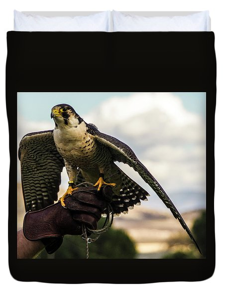 Duvet Cover featuring the photograph Ramona Hawk 9 by Phyllis Spoor