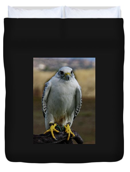 Duvet Cover featuring the photograph Ramona Hawk Watch 2 by Phyllis Spoor