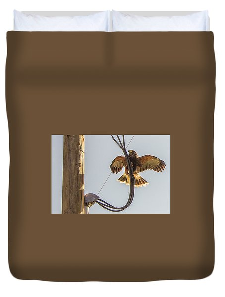 Duvet Cover featuring the photograph Ramona Hawk Watch 4 by Phyllis Spoor