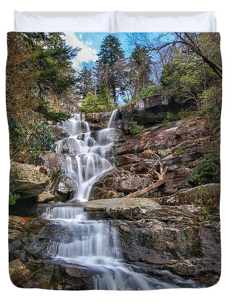 Ramsey Cascades - Tennessee Waterfall Duvet Cover