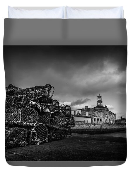 Ramsgate Lobster Pots  Duvet Cover