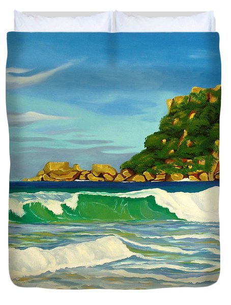 Ramy Base Beach Duvet Cover by Milagros Palmieri