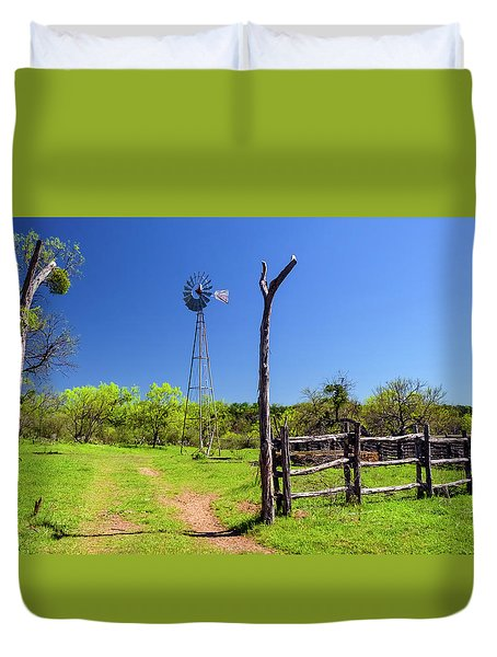 Ranch At Click Gap II Duvet Cover by Greg Reed