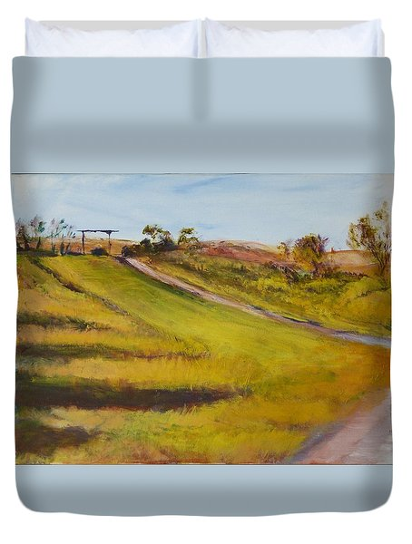 Ranch Entrance Duvet Cover by Helen Campbell