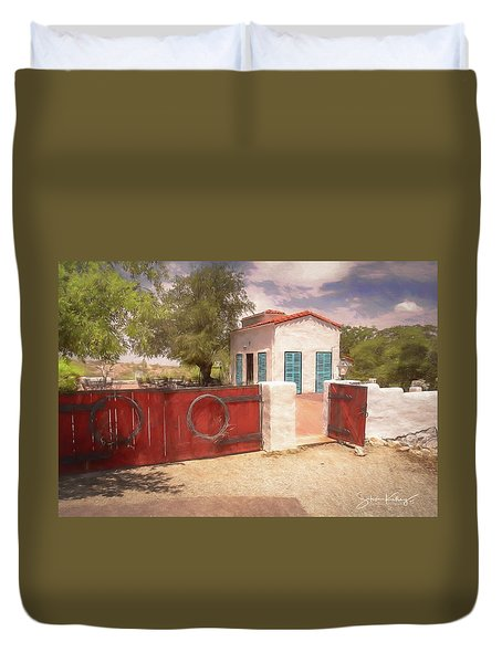 Ranch Family Homestead Duvet Cover