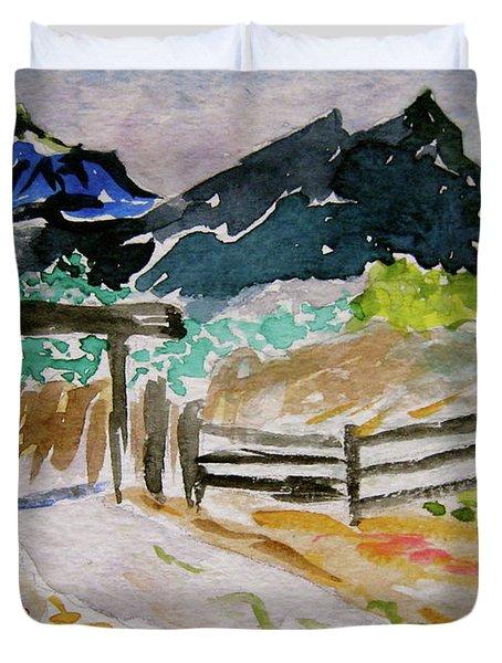 Ranch Outside Salida Duvet Cover