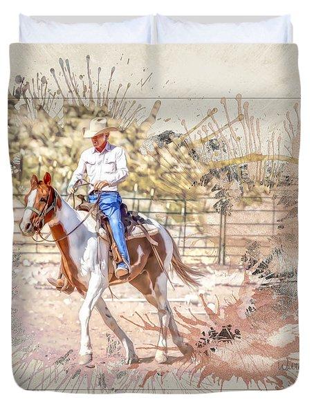 Ranch Rider Digital Art-b1 Duvet Cover