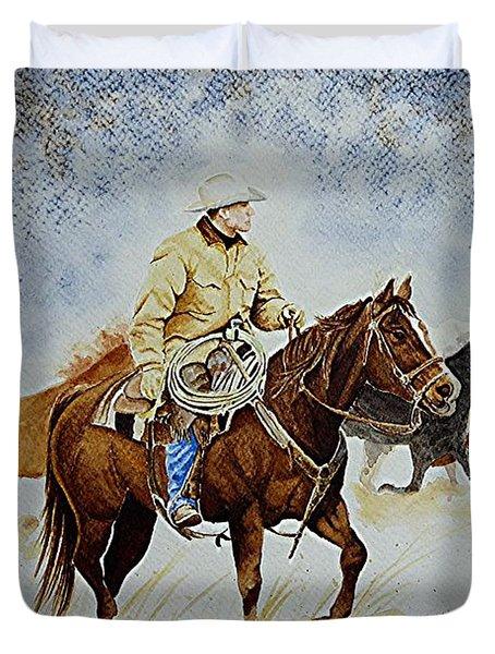 Ranch Rider Duvet Cover