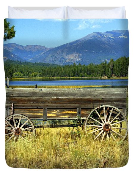 Ranch Wagon 3 Duvet Cover by Marty Koch