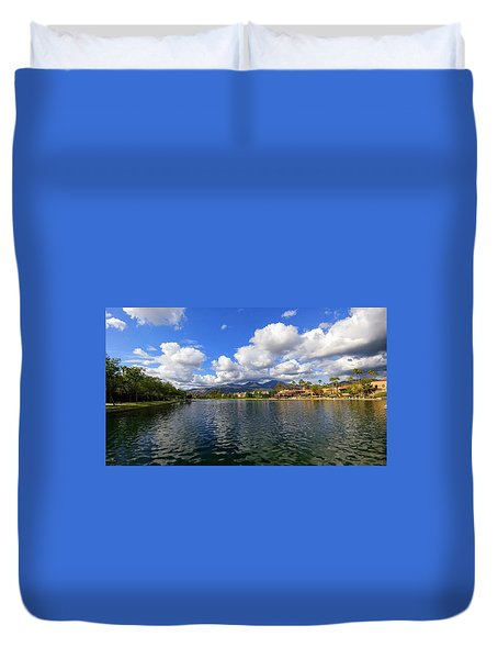 Rancho Santa Margarita Lake Duvet Cover