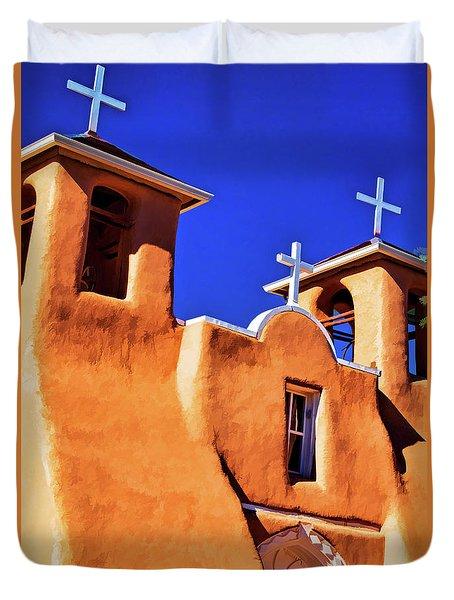 Ranchos De Taos Church Duvet Cover