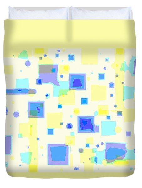Duvet Cover featuring the digital art Random Blips by Shelli Fitzpatrick