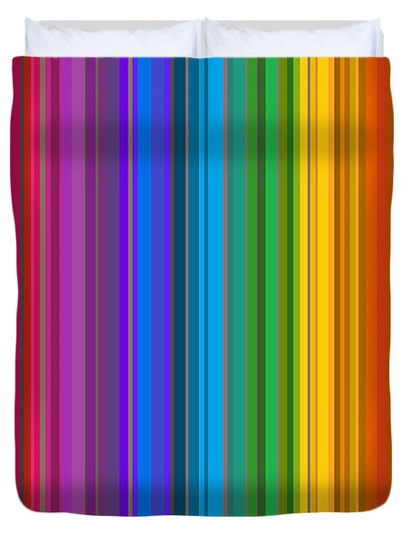 Random Stripes - Rainbow Stripe Duvet Cover