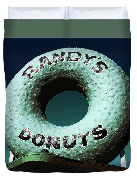 Randy's Donuts - 12 Duvet Cover