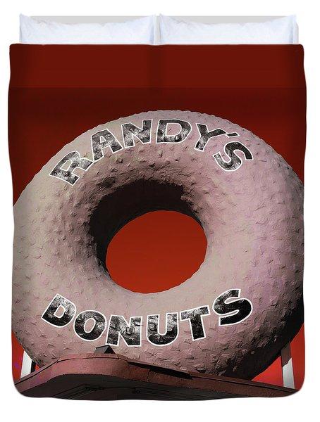 Randy's Donuts - 3 Duvet Cover