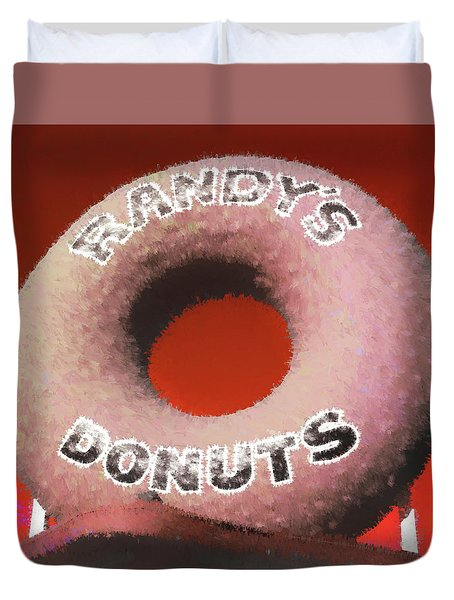 Randy's Donuts - 4 Duvet Cover