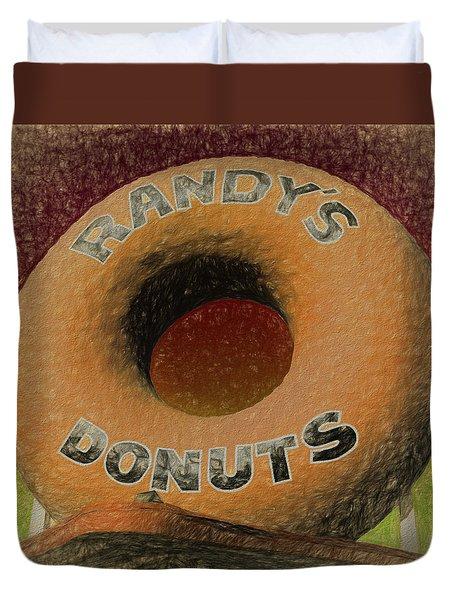 Randy's Donuts - 7 Duvet Cover