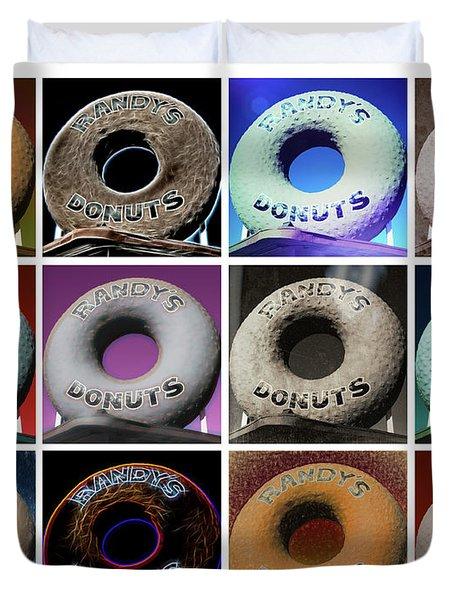 Randy's Donuts - Dozen Assorted Duvet Cover