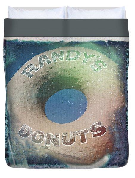Randy's Donuts - Old Polaroid Duvet Cover