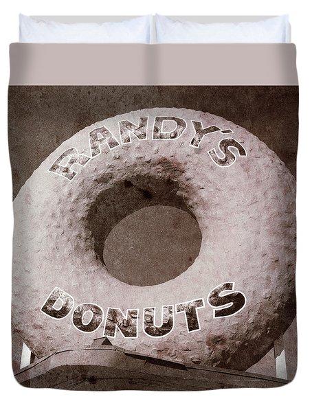 Randy's Donuts - Vintage Duvet Cover