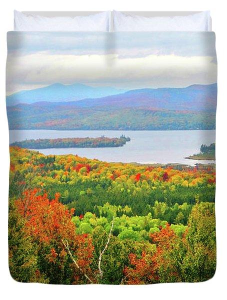 Rangeley Lake And Rangeley Plantation Duvet Cover