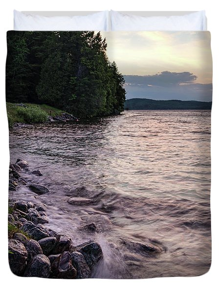 Rangeley Lake State Park In Rangeley Maine  -53215-53218 Duvet Cover