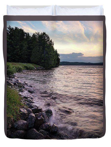 Rangeley Lake State Park In Rangeley Maine  -53215-53218 Duvet Cover