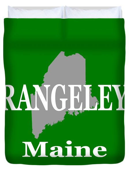 Duvet Cover featuring the photograph Rangeley Maine State City And Town Pride  by Keith Webber Jr