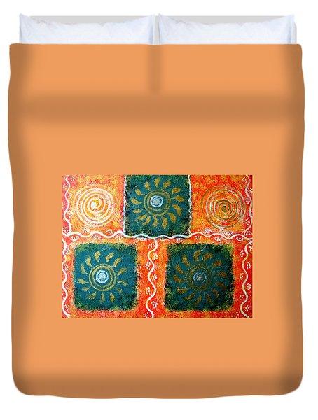 Rangoli Abstract Painting Duvet Cover